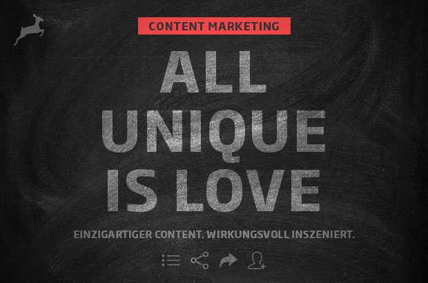 Content-Marketing: All unique is love
