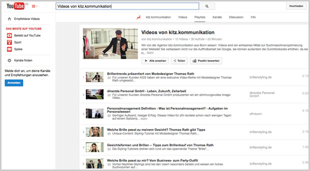 Video: YouTube-Channel von kitz.kommunikation
